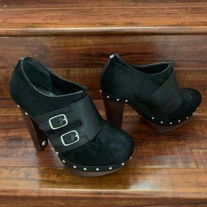 UGG Booties Heels Black